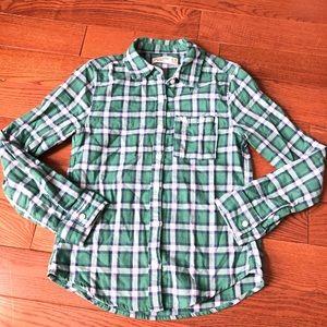 Abercrombie Kids Plaid Button Down Shirt Sz 9/10